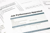 Job performance appraisal form for business — Stock Photo