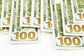 New edition 100 dollar banknotes, money for funds and profits co — Stock Photo