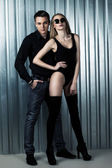 Fashion sweet couple — Foto Stock