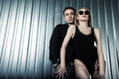 Fashion sweet couple — Stock fotografie