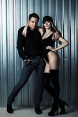 Fashion sweet couple — Stockfoto