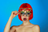 Holiday makeup — Stock Photo
