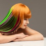 Creativity in the beauty salon — Stock Photo
