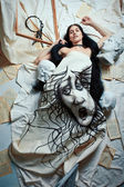 Artist's muse — Stock Photo
