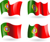 4 Flags of Portugal — Stock Vector