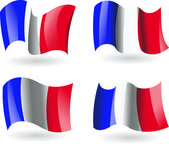 4 Flags of France — Stock Vector
