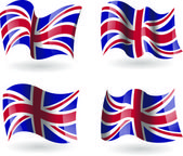 4 Flags of the United Kingdom — Stock Vector