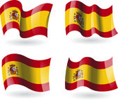 4 Flags of Spain — Stock Vector