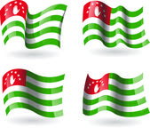 4 Flags of Abkhazia — Stock Vector