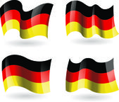 4 Flags of Germany — Stock Vector