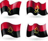 4 Flags of Angola — Stock Vector