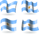 4 Flags of Argentina — Stock Vector