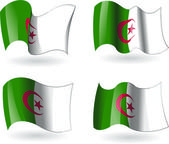 4 Flags of Algeria — Stock Vector
