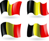 4 Flags of Belgium — Stock Vector