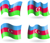 4 Flags of Azerbaijan — Stock Vector