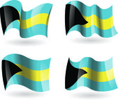 4 Flags of the Bahamas — Stock Vector