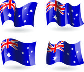 4 Flags of Australia — Stock Vector