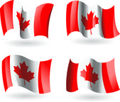 4 Flags of Canada — Stock Vector