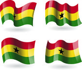 4 Flags of Ghana — Stock Vector