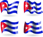 4 Flags of Cuba — Stock Vector