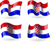4 Flags of Croatia — Stock Vector
