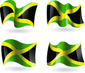4 Flags of Jamaica — Stock Vector