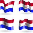 4 Flags of Paraguay — Stock Vector #27211969
