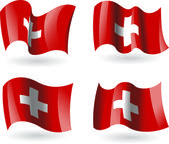 4 Flags of Switzerland — Stock Vector