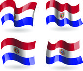 4 Flags of Paraguay — Stock Vector