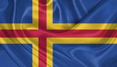 Flag of Aland Islands — Stock Photo
