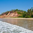Varkala Beach, with views of the sea on the cliff — Stock Photo