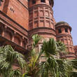 Stock Photo: Towers of Red Fort (Lal Qila). Old Delhi, India