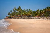 Varkala Beach with the beach hotel in the distance — Stock Photo