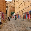 16.10.2012 - Jaisalmer. Rajasthan. India. Shopping street in the fort of Jaisalmer. — Stock Photo #30957251