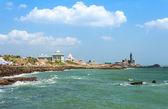 Kanyakumari. de stad in de indiase staat tamil nadu, gelegen in het meest zuidelijke punt van india. — Stockfoto