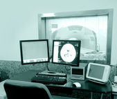 Computer tomography (CT Scan) machine in medical center — Stock Photo