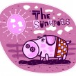 Stock Vector: Pig and sunspots