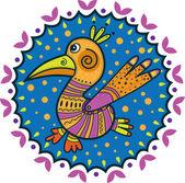 Decorative bird with large beak — Stock Vector