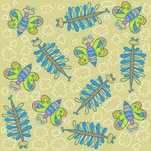 Decorative butterflies,Pattern — ストックベクタ