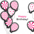 Постер, плакат: Happy birthday postcard with balloons