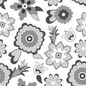 Flower pattern background. Vector illustration — Stock Vector