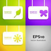 Entertainment applique background set. Vector illustration for your design. — Stock Vector
