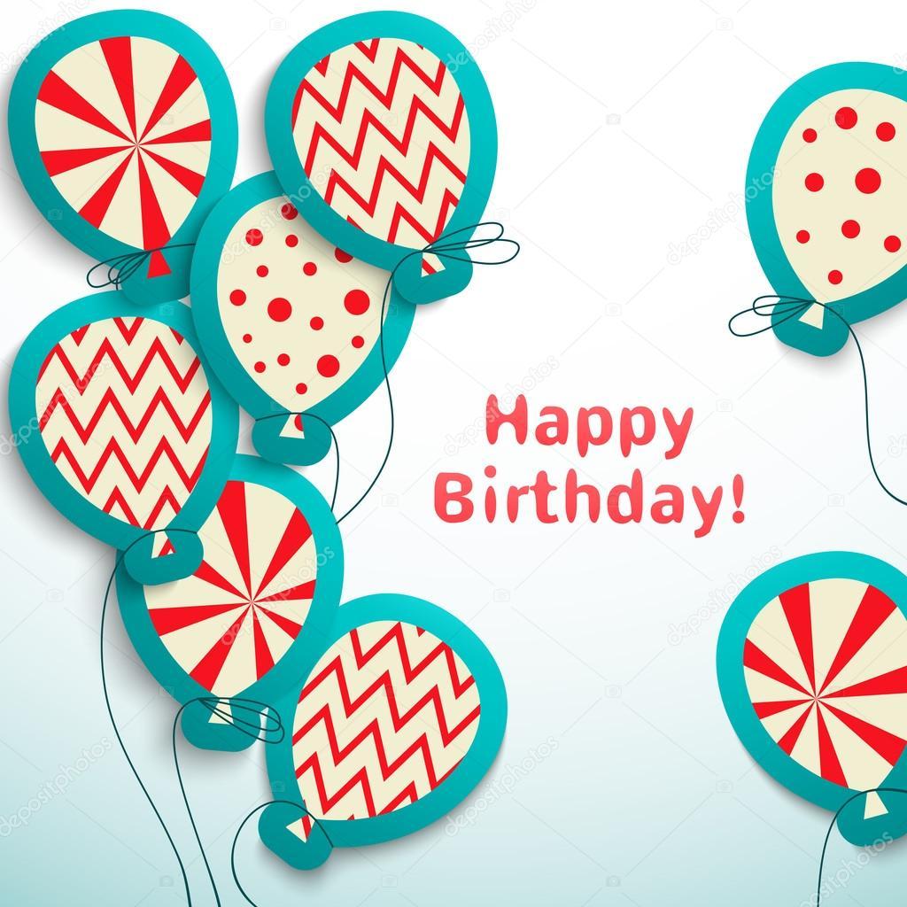 Открытка на день рождения в векторе 97