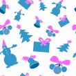Christmas seamless background. Blue and purple color. — Stok Vektör