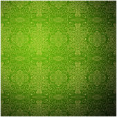 Antique pattern background. Green seamless wallpaper — Stock Vector