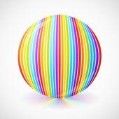 Esfera brilhante arco-íris, isolada no branco — Vetorial Stock
