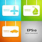 Travel applique background. Vector illustration. — Stock Vector