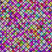 Abstract geometric pattern background. Colorful mosaic on black — Stock Vector