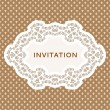 Invitation card. Vintage background with place for text. — Vector de stock #28056197