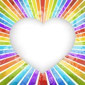 Retro rainbow hjärtat bakgrund — Stockvektor